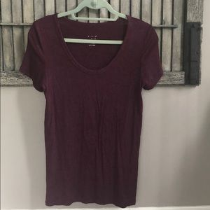 A New Day Long Tee - Maroon